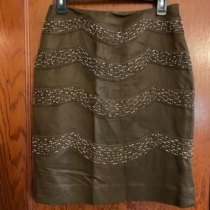 Etcetera Size 2 Skirt with bead embellishments